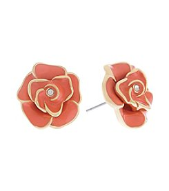 Gloria Vanderbilt™ Flower Button Earrings