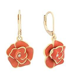 Gloria Vanderbilt Flower Drop Earrings