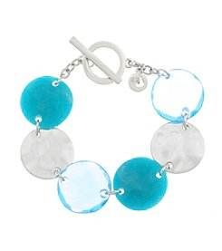 Gloria Vanderbilt™ Blue Stone Flex Bracelet