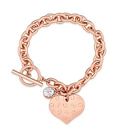GUESS Heart Chainlink Bracelet