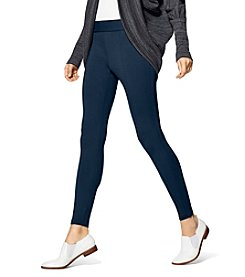 HUE Plus Style Tech Blackout Leggings