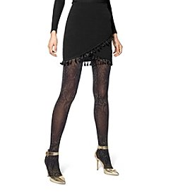 HUE® Metallic Baroque Printed Tights