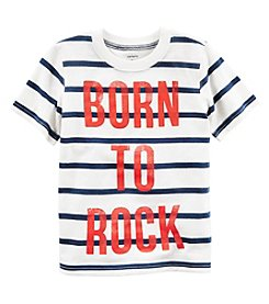 Carter's® Boys' 2T-8 Striped Short Sleeve Rock Tee