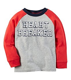 Carter's® Boys' 2T-8 Long Sleeve Heartbreaker Tee
