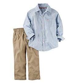 Carter's® Boys' 2T-7 2-Piece Printed Shirt And Khaki Set