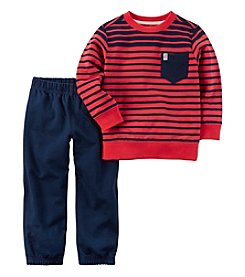 Carter's® Boys' 2T-4T 2-Piece Striped Shirt And Pant Set