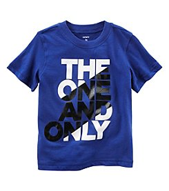 Carter's® Boys' 2T-8 Short Sleeve One & Only Tee