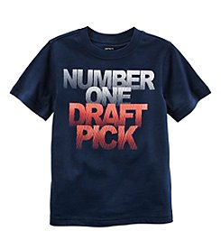 Carter's® Boys' 2T-8 Short Sleeve #1 Draft Tee