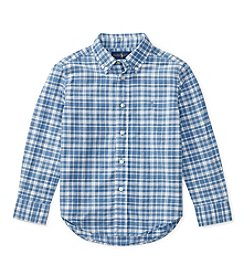 Polo Ralph Lauren® Boys' 2T-7 Long Sleeve Button Down Shirt