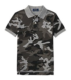 Polo Ralph Lauren® Boys' 2T-7 Camo Knit Short Sleeve Top