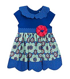 Rare Editions® Baby Girls' Bright Top with Patterned Skirt Dress