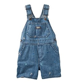 OshKosh B'Gosh® Baby Boys' Denim Anchor Schiffli Shortalls