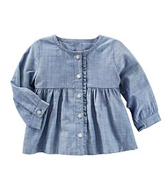 OshKosh B'Gosh® Baby Girls' Long Sleeve Chambray Top