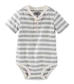 OshKosh B'Gosh® Baby Boys' Striped Henley Bodysuit