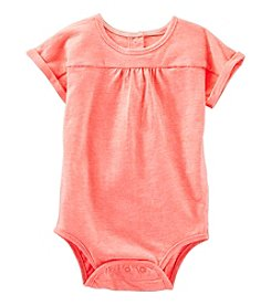 OshKosh B'Gosh® Baby Girls' Knit Short Sleeve Bodysuit