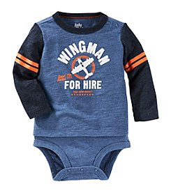 OshKosh B'Gosh® Baby Boys' Wingman Long Sleeve Bodysuit