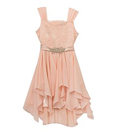 Rare Editions® Girls' 7-16 Lace Chiffon Dress