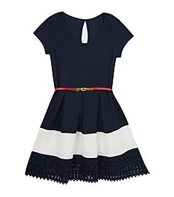 Rare Editions® Girls' 7-16 Lazercut Dress