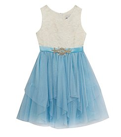 Rare Editions® Girls' 7-16 Lace Mesh Skirt Dress