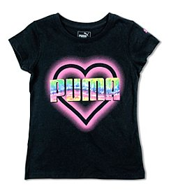 PUMA® Girls' 7-16 Heart Graphic Long Sleeve Tee
