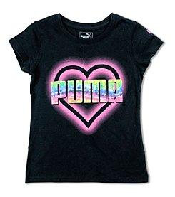 PUMA® Girls' 7-16 Heart Graphic Long Sleeve Tee