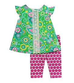 Rare Editions® Girls' 2T-6X 2-Piece Daisies Top And Leggings Set