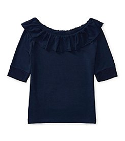 Polo Ralph Lauren® Girls' 7-16 Ruffle Knit Top