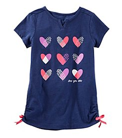 OshKosh B'Gosh® Girls' 2T-8 Heart Short Sleeve Tunic Top