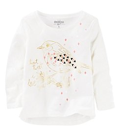 OshKosh B'Gosh® Girls' 2T-8 Bird Long Sleeve Tee
