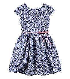 Carter's® Girls' 2T-8 Paisley Sateen Dress