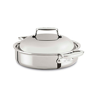 All-Clad® Stainless Steel 4-Qt. Braiser With Lid
