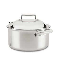All-Clad® Stainless Steel 8-Qt. Round Roaster With Lid