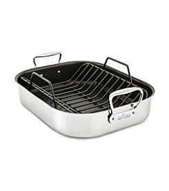 All-Clad® Large Stainless Steel Nonstick Roaster With Rack