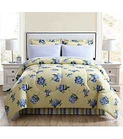 LivingQuarters Floral Spray 8pc Comforter Set