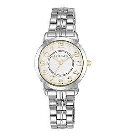 Anne Klein® Silvertone Bracelet Watch with Easy Reader Dial