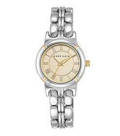 Anne Klein® Silvertone Bracelet Watch with Roman Numeral Dial