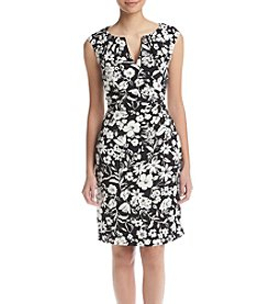 Adrianna Papell® Floral Side Drape Dress