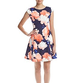 Vince Camuto® Floral Fit And Flare Dress