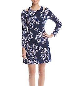 Ivanka Trump® Cold Shoulder Lilac Dress