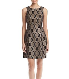 Ivanka Trump® Metallic Foil Knit Dress