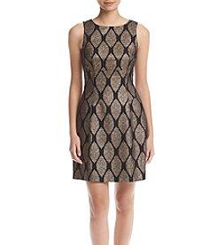 Ivanka Trump® Metallic Foil Knit Dress