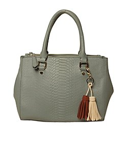 Imoshion Snake Embossed Satchel with Tassel