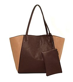 Imoshion Large Colorblocked Tote with Removable Pouch