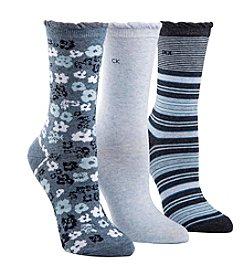 Calvin Klein 3-Pack Floral Crew Socks