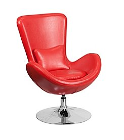 Flash Furniture Leather Egg Series Reception Lounge Side Chair