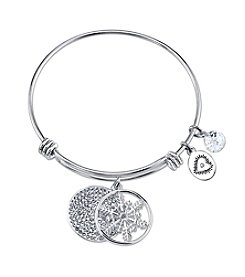 Gratitude and Grace Snowflake Adjustable Bangle