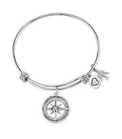 Gratitude and Grace Wanderlust Compass Adjustable Bangle