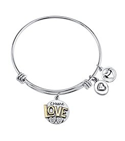 Gratitude and Grace Love Adjustable Bangle