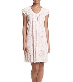 Miss Elaine® Short Floral Sleep Gown