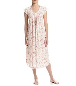 Miss Elaine® Long Floral Sleep Gown